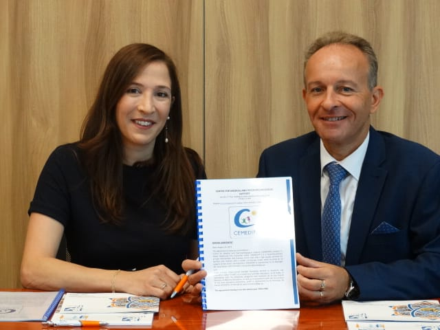 Centre for Medical and Psychopedagogical Support has signed a partnership agreement with Lycée français International Georges Pompidou at the school's premises
